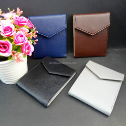handmade pu leather wallet for student