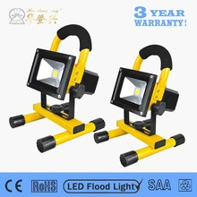 Low MOQ can be customized emergency 10w portable led flood light rechargeable 8hours working time from fully charged :