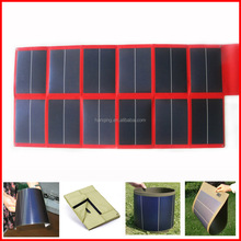 Foldable solar energy system charge for golf cart solar panel