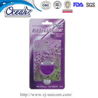 Good smell natural air freshener, oil membrane car air freshener, car vent liquid air freshener