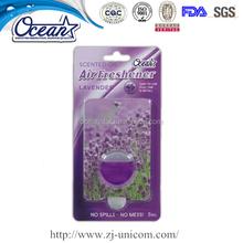 Good smell natural air freshener, oil membrane car air freshener, car vent liquid air freshener