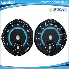 Retail High Quality Waterproof Gradient Color Digital Dashboard Auto Meter