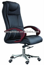 elegant executive office chair high back wooden base AB-141