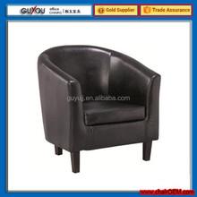 Y 5960 PU Leather Antique Wooden Tub Chair Restaurant Tub Chair Home Furniture