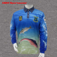 Custom made dry fit breathable fishing shirt