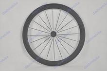 carbono 50mm de carbono clincher/tubular de bicicleta de carretera ruedas brillante/mate acabado de fibra de carbono llantas
