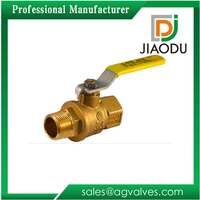 Brass Ball Valve, 2 Piece, Full Port, Male x Female Threaded Connection, 600 WOG