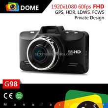 New arrival 2014 G98 Ambarella A7LA70 chipset 1296p Car dvr camera with HDR,LDWS,FCWS and GPS