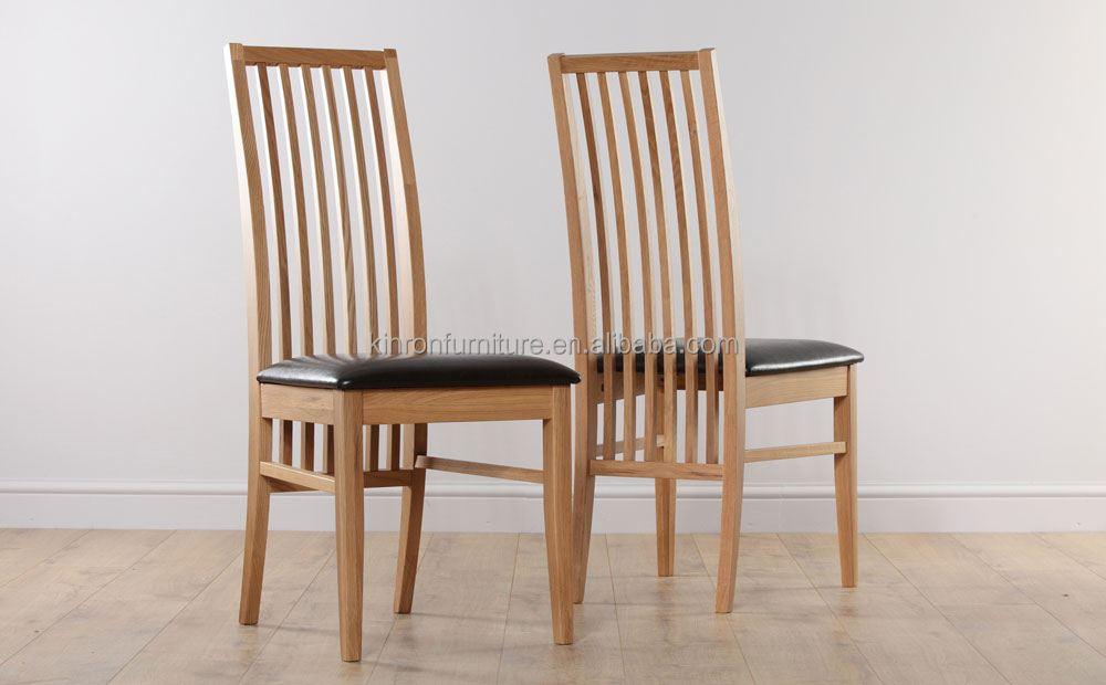 Unique retour chaise c t pour meubles de maison en bois de ch ne bois dossie - Chaise haut dossier salle a manger ...