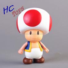 Hot Super Mario Bros Mushroom Toad PVC Action Figure Model Toy