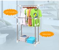 Telescopic indoor drying rack,Double rail bedroom clothes hanger stand,Vertical clothes dryer indoor hanger rack