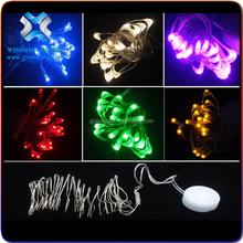 2015 new design!Factory wholesale firefly lights string, smile face CR2032 battery pack ultra mini string light waterproof light