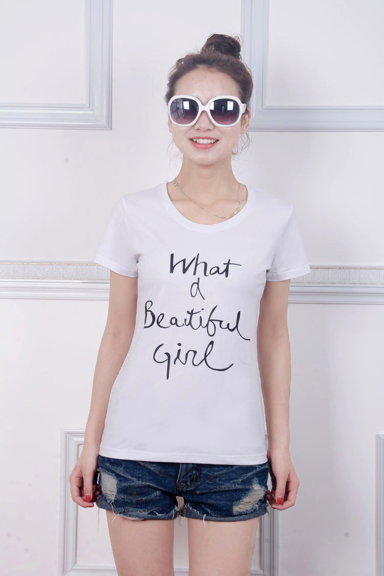 Bulk sale white color letters printed clothing factories for Bulk printed t shirts cheap