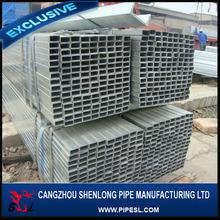 Zincatura a caldo tuffato vasca rotonda, confrontare preferiti del tubo quadrato di acciaio zincato vasca quadrata in acciaio cavo