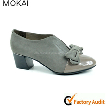 MK084-1 high quality Genuine leather hot sale fashion china womens platform low heels shoes