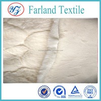 New products knitted polyester fabric Faux wool fabric used shoes and clothes