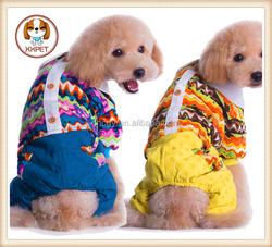 2015 NEW arrive pet dog cotton small Teddy dog novelty suits dog's clothes in Winter