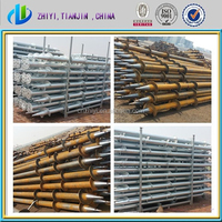 Factory supply directly hot dip galvanized steel Q235 reused screw ground anchor for solar panels