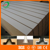Fashion Melamine Laminated Slatwall MDF Panels For Decoration