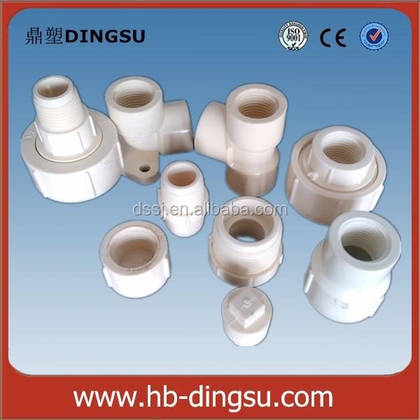 Pvc pipe fitting dibujos rosca de plástico instalación