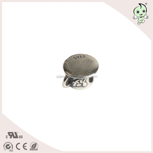 Hole 4.5mm Silver Coffee Cup Charm bead Bracelets and Necklaces