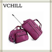 Purple OEM Trolley Women Travel Bags With Wheels