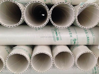 2015 double wall spiral pipe Rain water pvc pipe