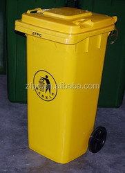 120L 2-wheelie mobile garbage bin waste bin plastic dustbin trash container with /without pedal