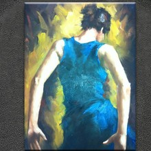 Hand-painted high quality palette knife oil painting dancing girl