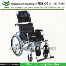 CARE-- FDA approve aluminum foldable wheelchair with commode