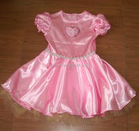pink satin princess costume for girls