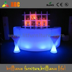 Rotomolding led furniture bar table and chairs outdoor, bar table and chairs, inflatable bar table