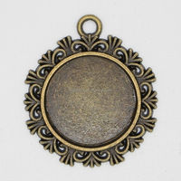 2015 Top quality fashion new setting tray , 20mm Copper blank pendant trays jewelry mountings settings pendants