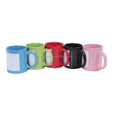 11oz stoneware sublimation stright mug with photo inserts