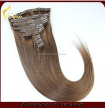 New arrival silk straight high quality virgin cuticle human in clip hair extension