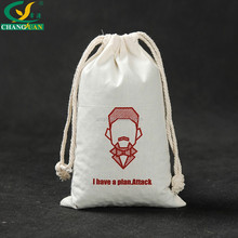 wholesale recyclable Cotton Fabric Double Drawstring Bag