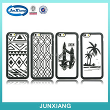 China fashion clear plastic picture covers rugged case for iphone 6 plus silicone mobile phone case