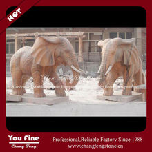 Modern Classic Hand Carved Marble Elephant Stone Sculpture