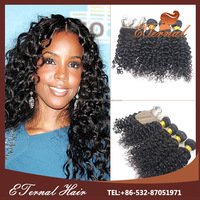 cheap stock deep curl hair lace closure with baby hair