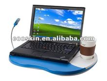 Cooskin portable foldable laptop table with LED