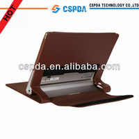 Luxury designed leather stand case for Lenovo Yoga Tablet 10