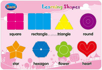 Educational paper shape learning jigsaw puzzle toy for kids early learning