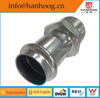High Pressure Stainless Steel Pipe Fittings Equal Male Coupling