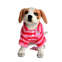 Pocky Striped Polo Spring And Summer Pet Clothes Small Dog Clothes Teddy Poodle Chihuahuas