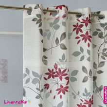 burnout modern design window curtains with printing, Ready made burnout fabric living room Curtains