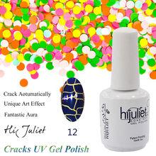 Últimas diseñado OEM grieta UV Gel polaco mayorista, especial efecto Art Nail Glue con grietas, la mejor calidad de uñas accesorio arte