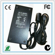 c14 ac socket 12V 12A 144W power adapter DC car charger socket for LCD Monitor