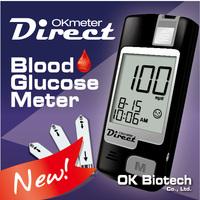 OKmeter Direct (Eject) Strip Ejectable Glucometer / Blood Sugar Meter / Test Strips