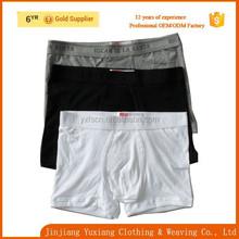 wholesale top quality tight plain white cotton mens underwear boxer briefs