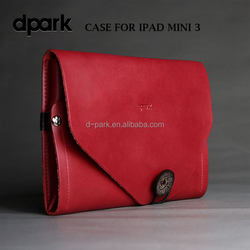Premium Vintage leather cover case for iPad mini 3 tablet covers and cases manufacturer
